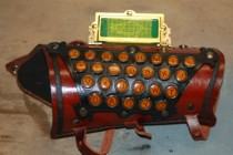 Brass and Leather Typewriter Key Arm/Wrist Guard