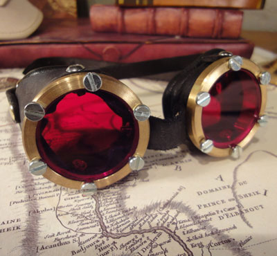 Mark 1 - Genuine Brass goggles with leather sides